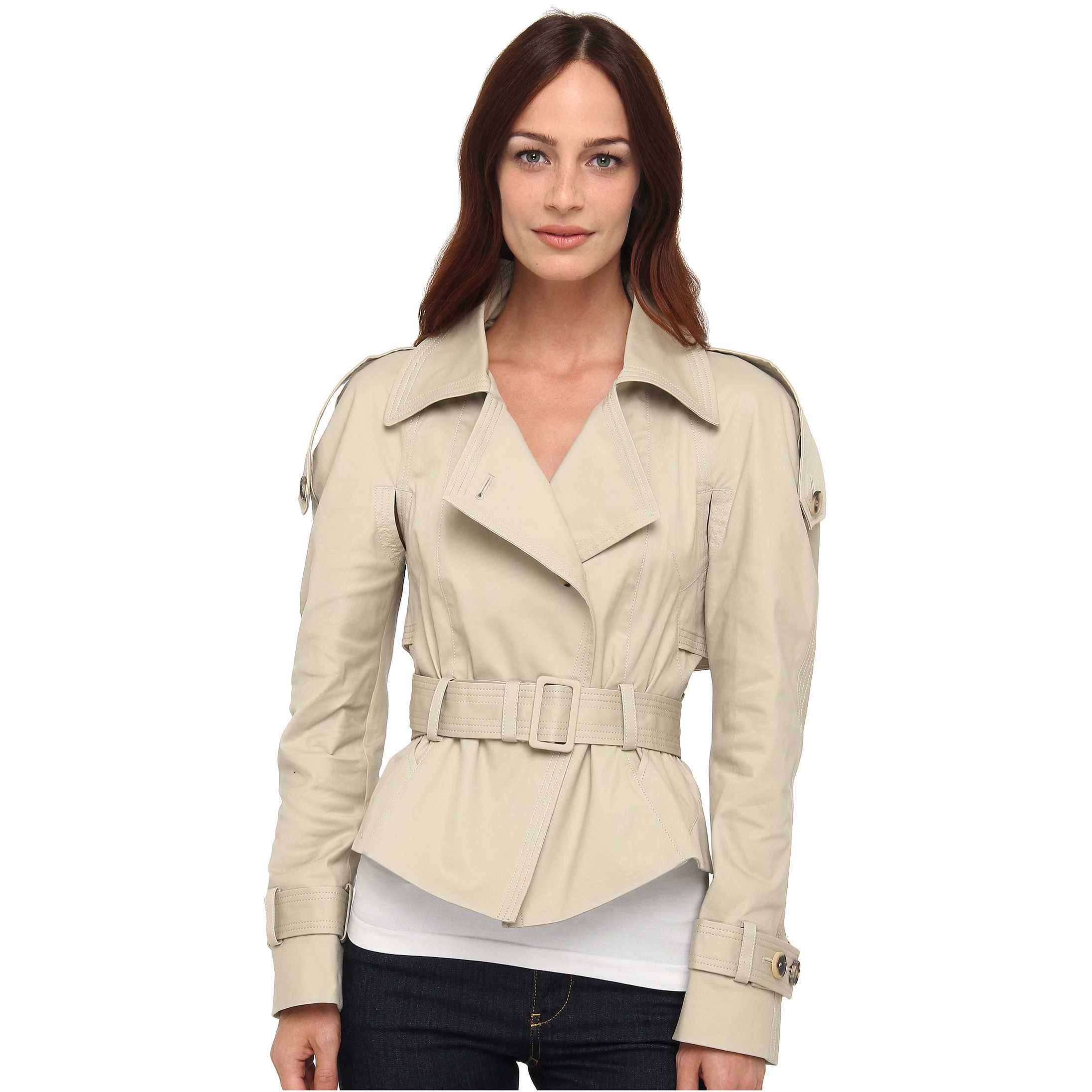 McQ Trench Jacket Stone trench dama