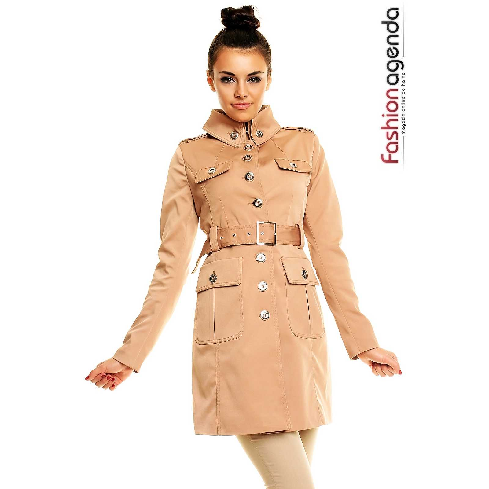 Trench Bej Brooks trench dama