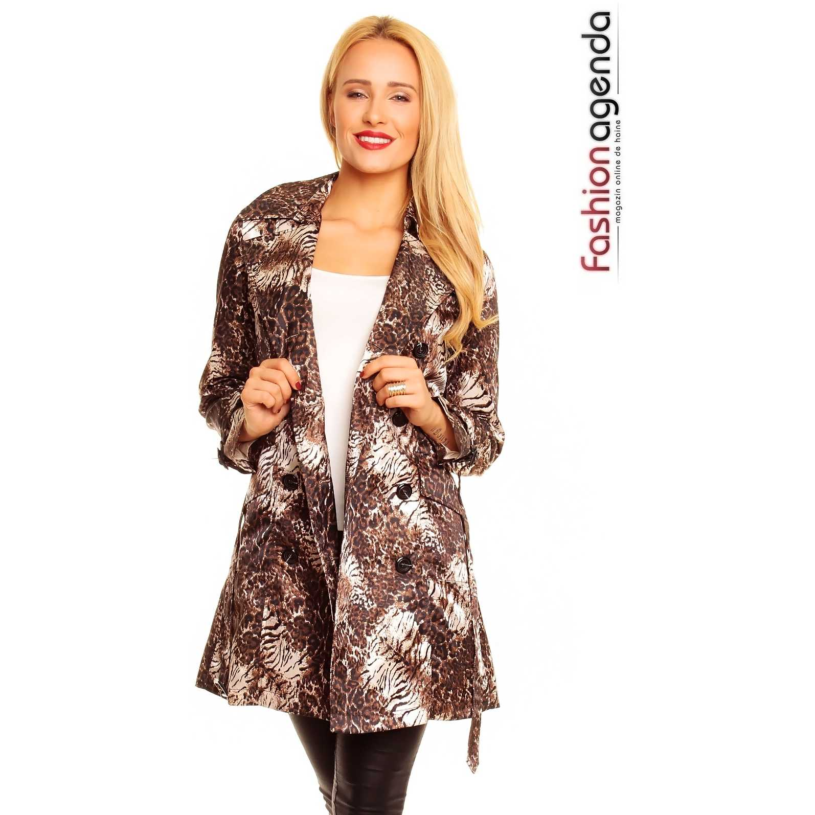 Trench Animal Print Lincoln trench dama