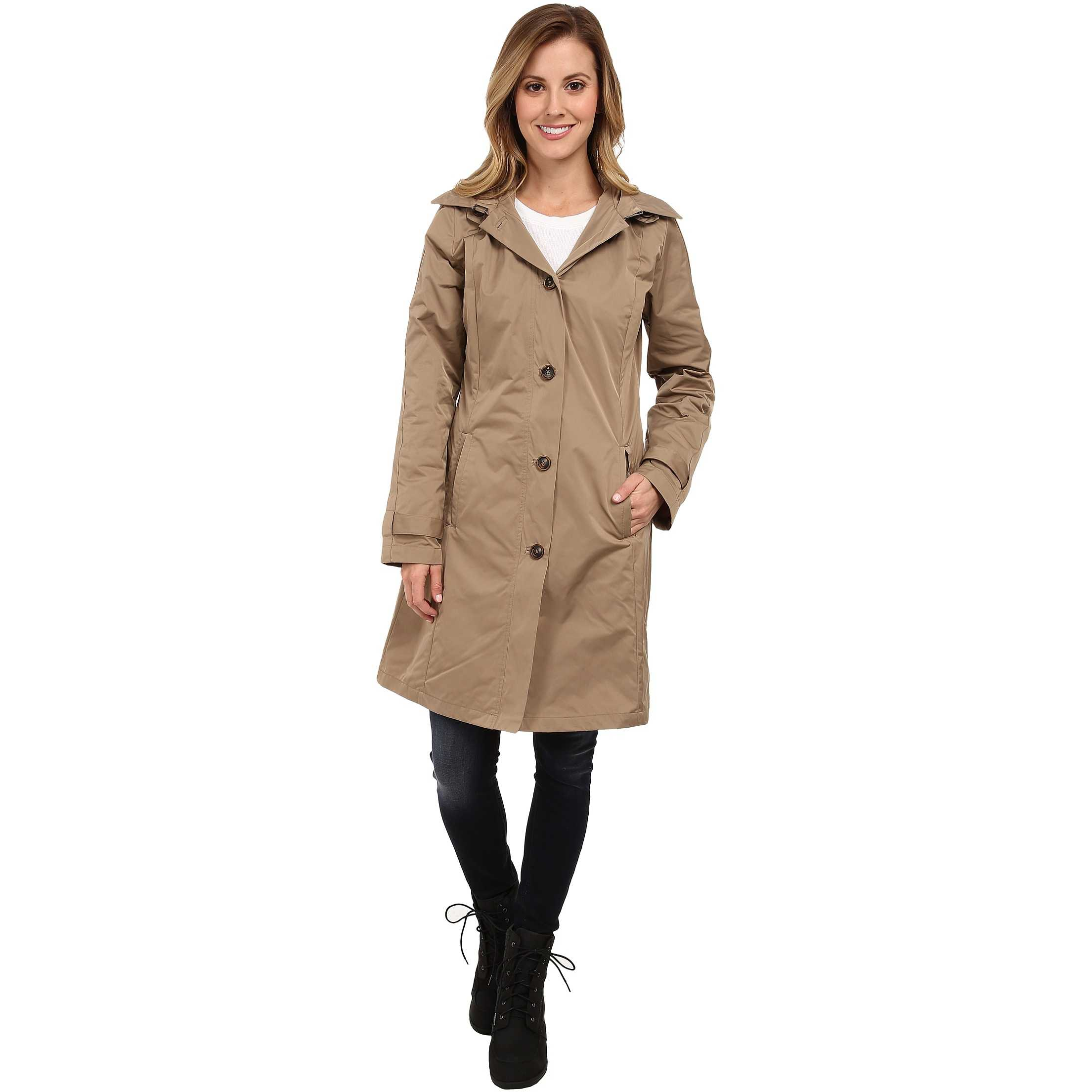 Rainforest Packable S/B Trench Coat Tan trench dama