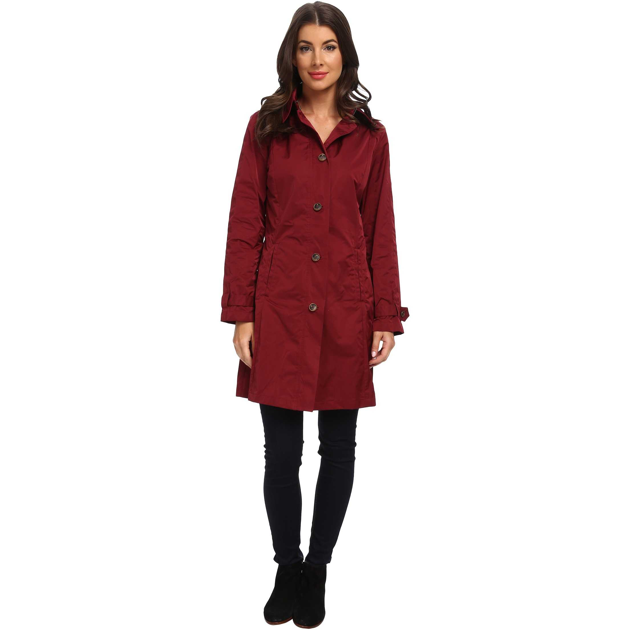 Rainforest Packable S/B Trench Coat Wine trench dama