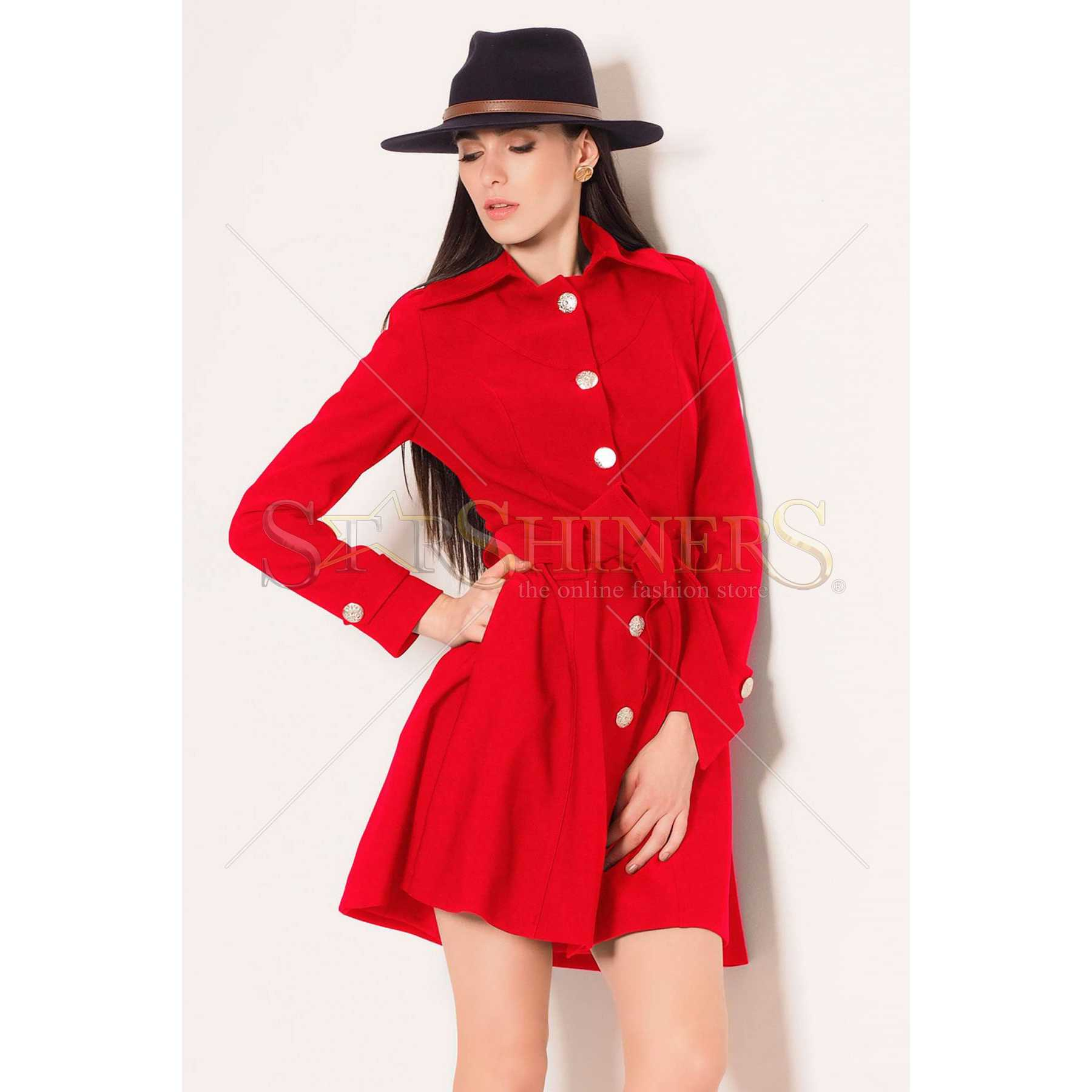 Trench Artista Early Riser Red trench dama
