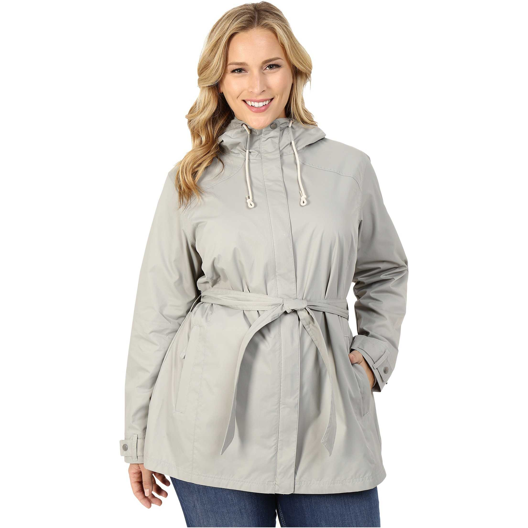 Columbia Plus Size Pardon My Trench Rain Jacket Flint Grey trench dama