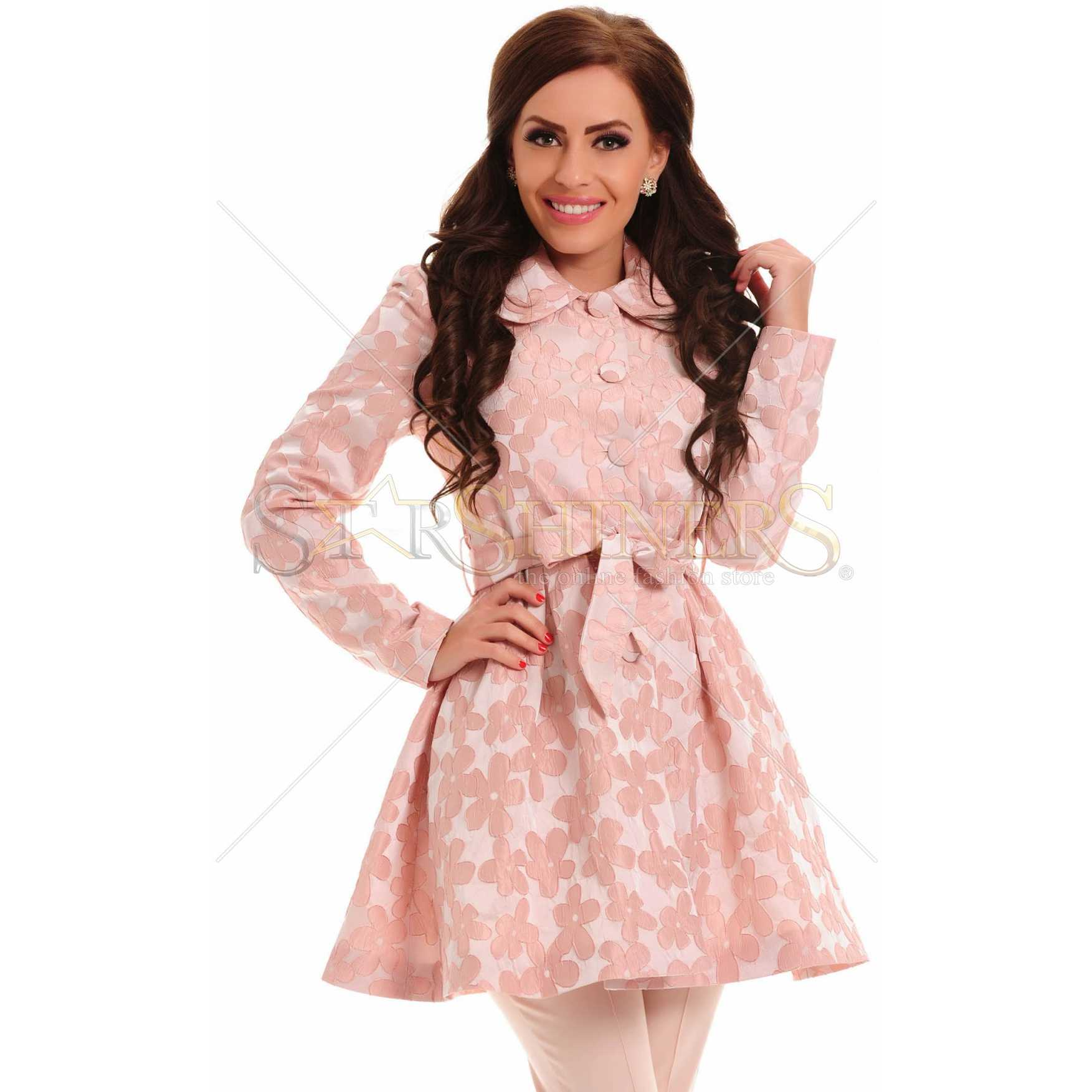 Trench LaDonna Lovely Choice Peach trench femei