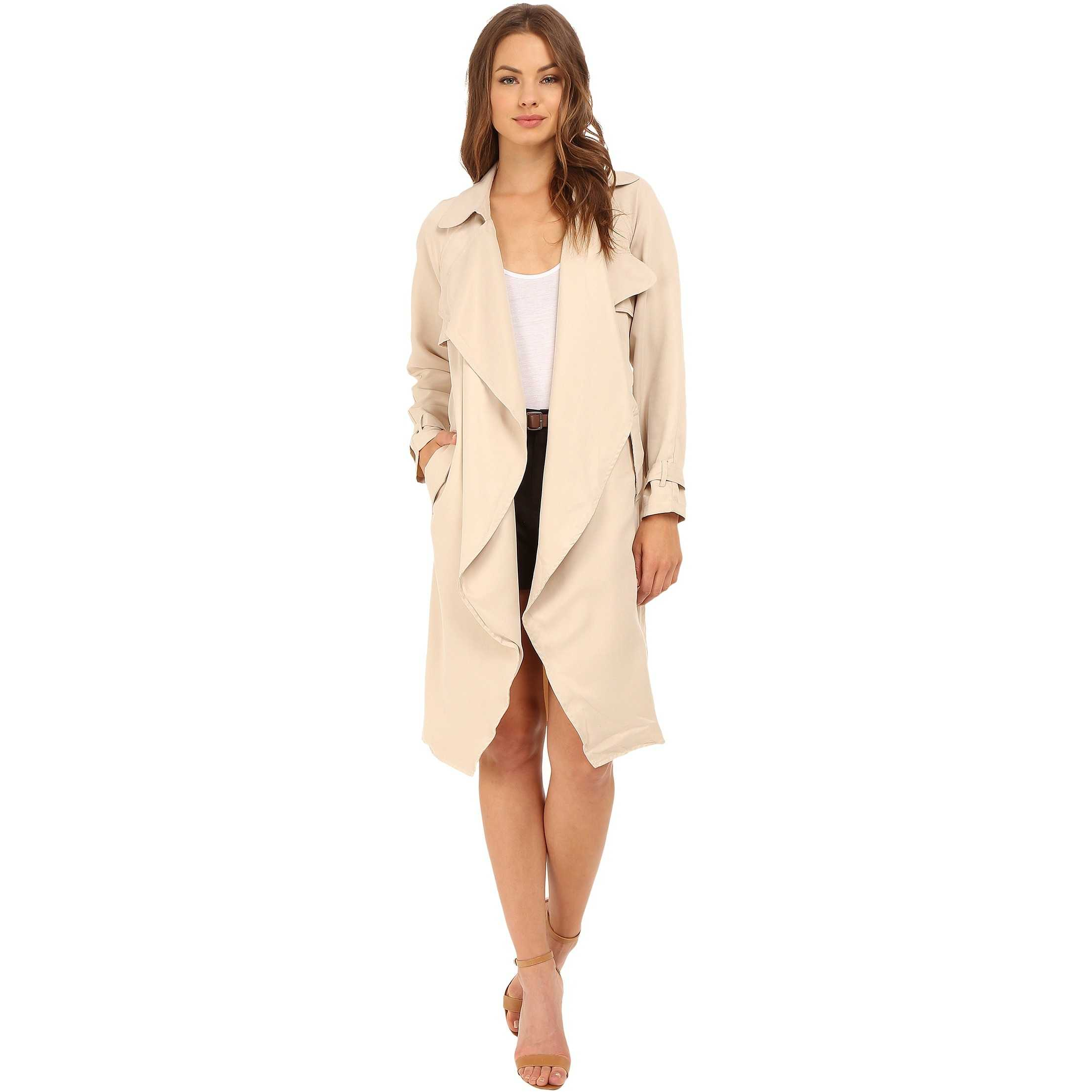 Brigitte Bailey Adela Trench-Style Jacket Sand trench dama