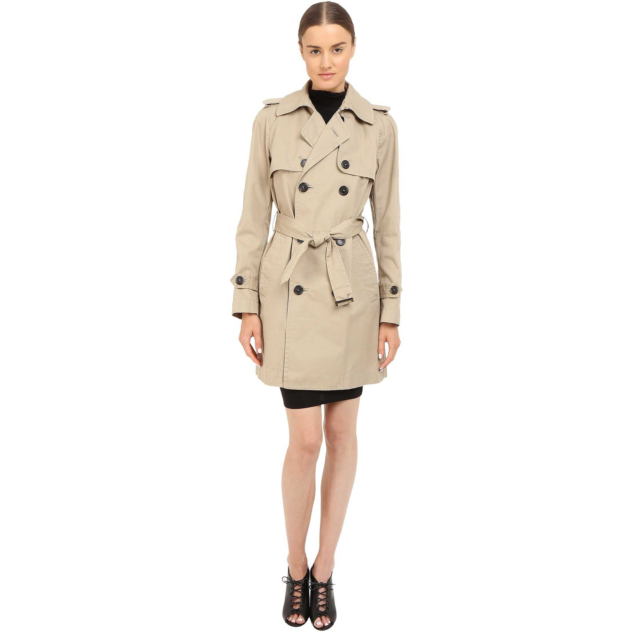 DSQUARED2 Cotton Twill Trench Coat Beige trench femei