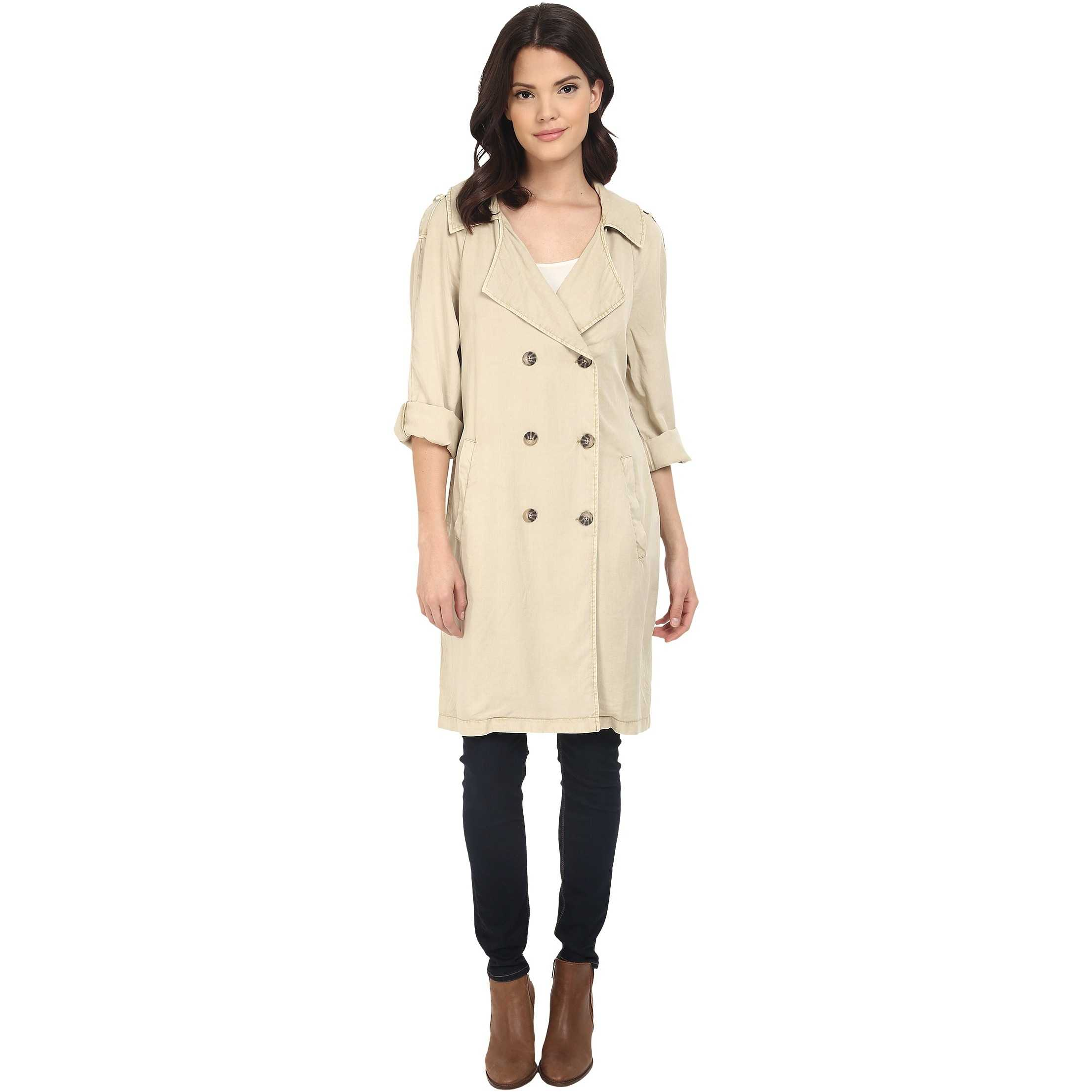 Sanctuary Jane in Paris Trench Jacket Real Khaki trench dama