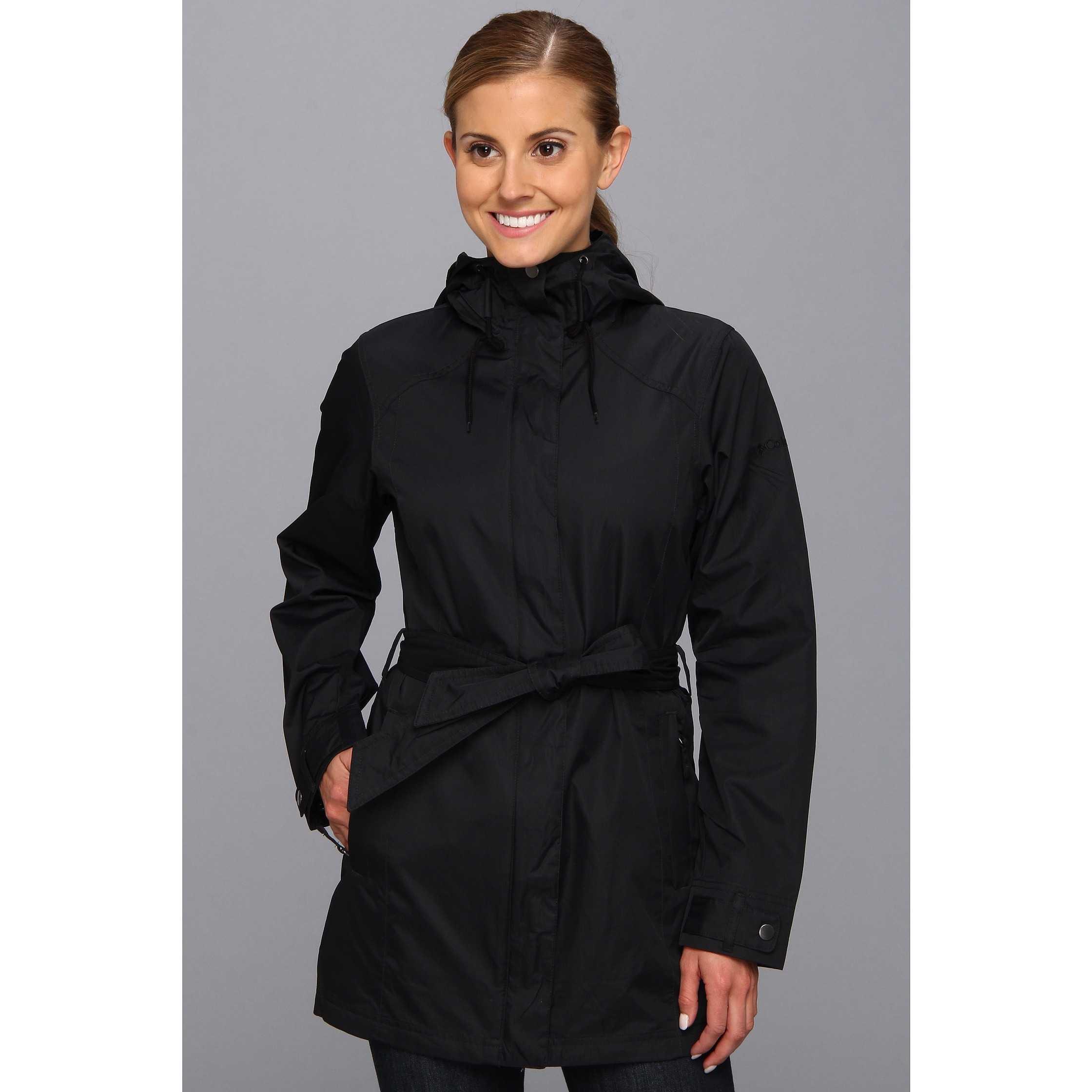 Columbia Pardon My Trench Rain Jacket Black trench dama