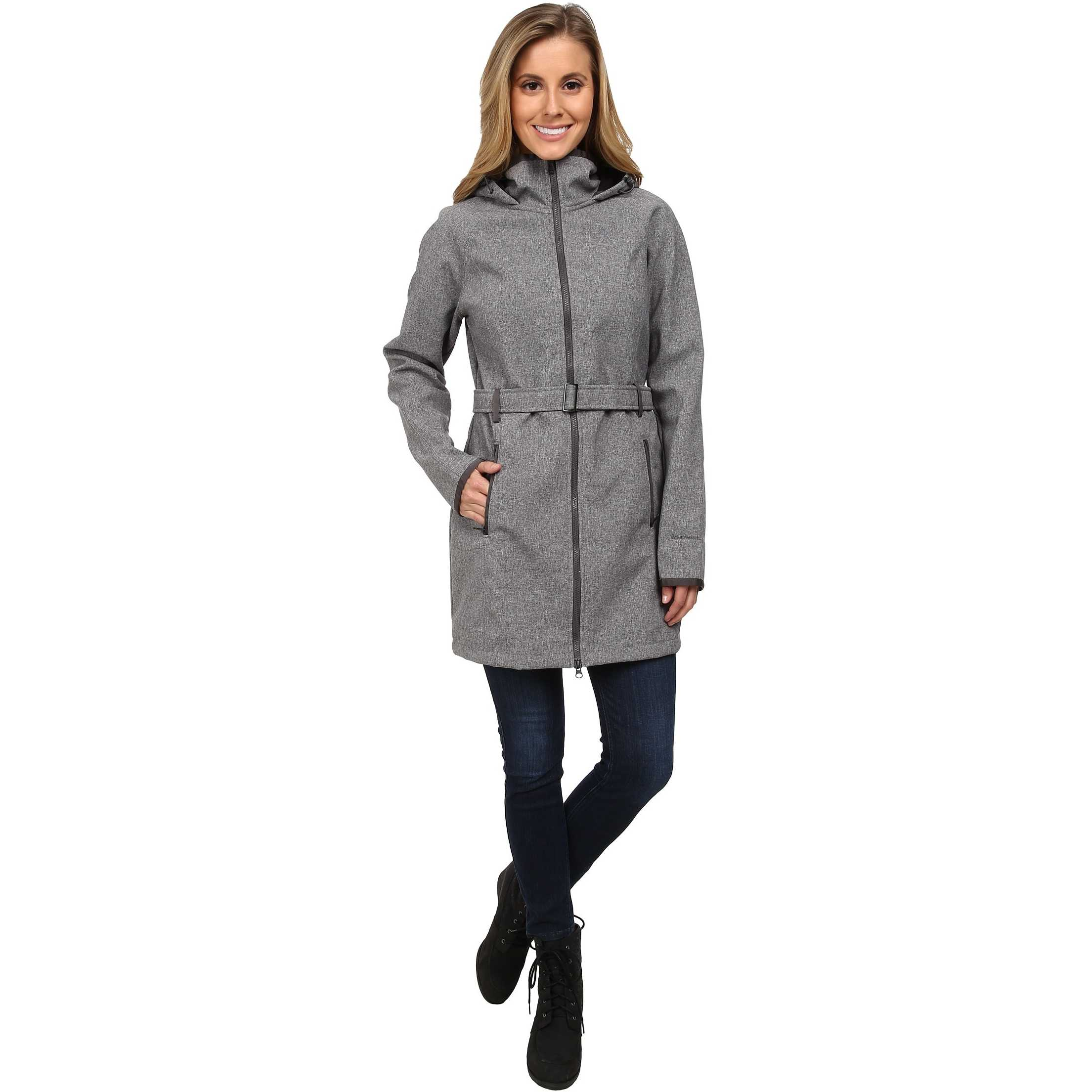 The North Face Apex Bionic Trench Coat Graphite Grey Heather trench dama