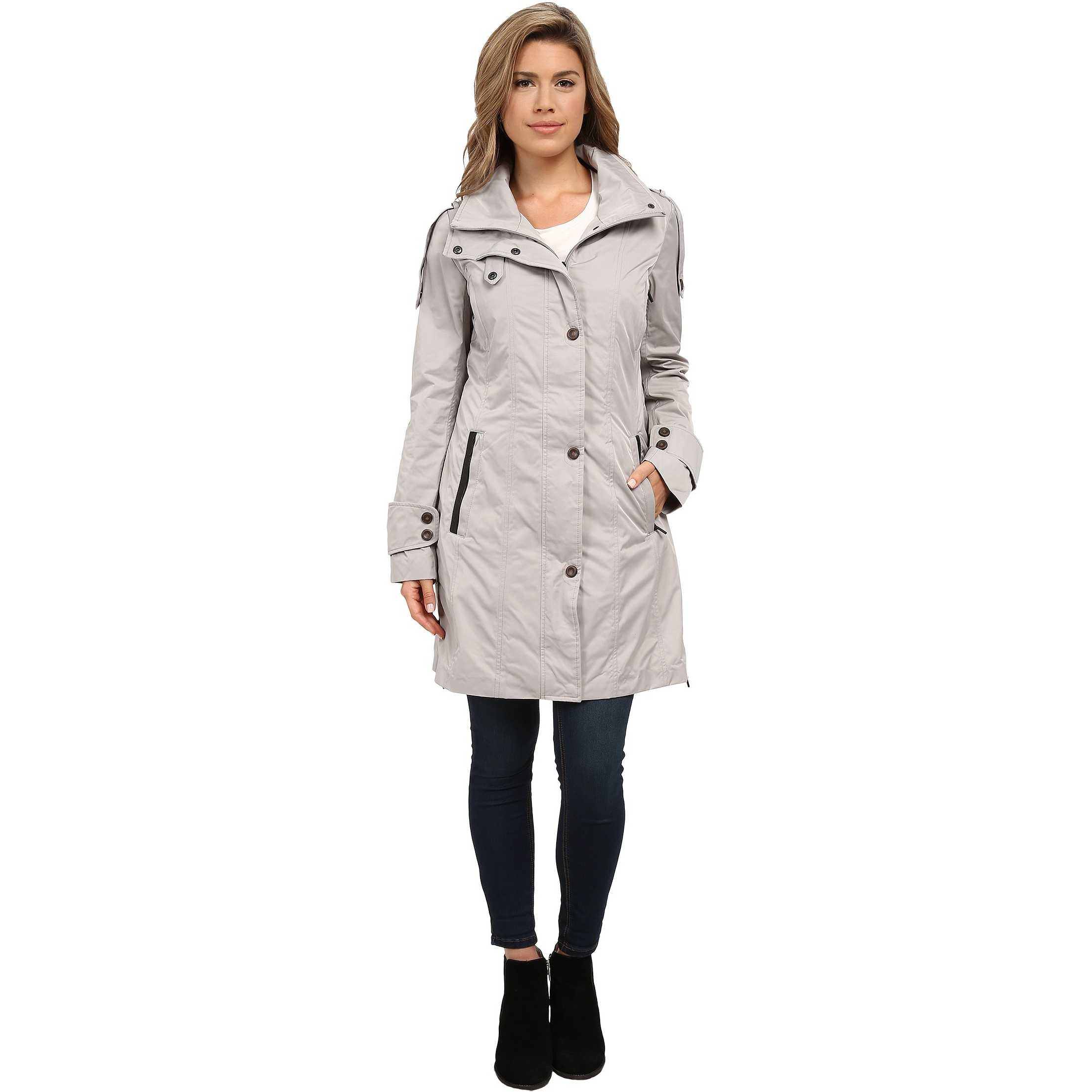 Rainforest Packable Modern Trench Champagne trench femei