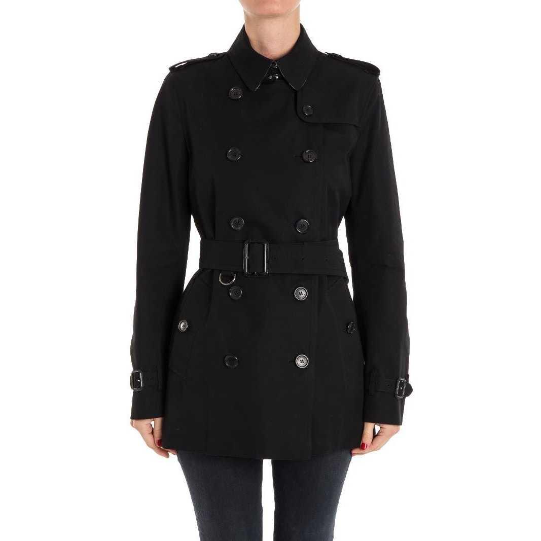 Burberry Cotton Trench Black pentru femei