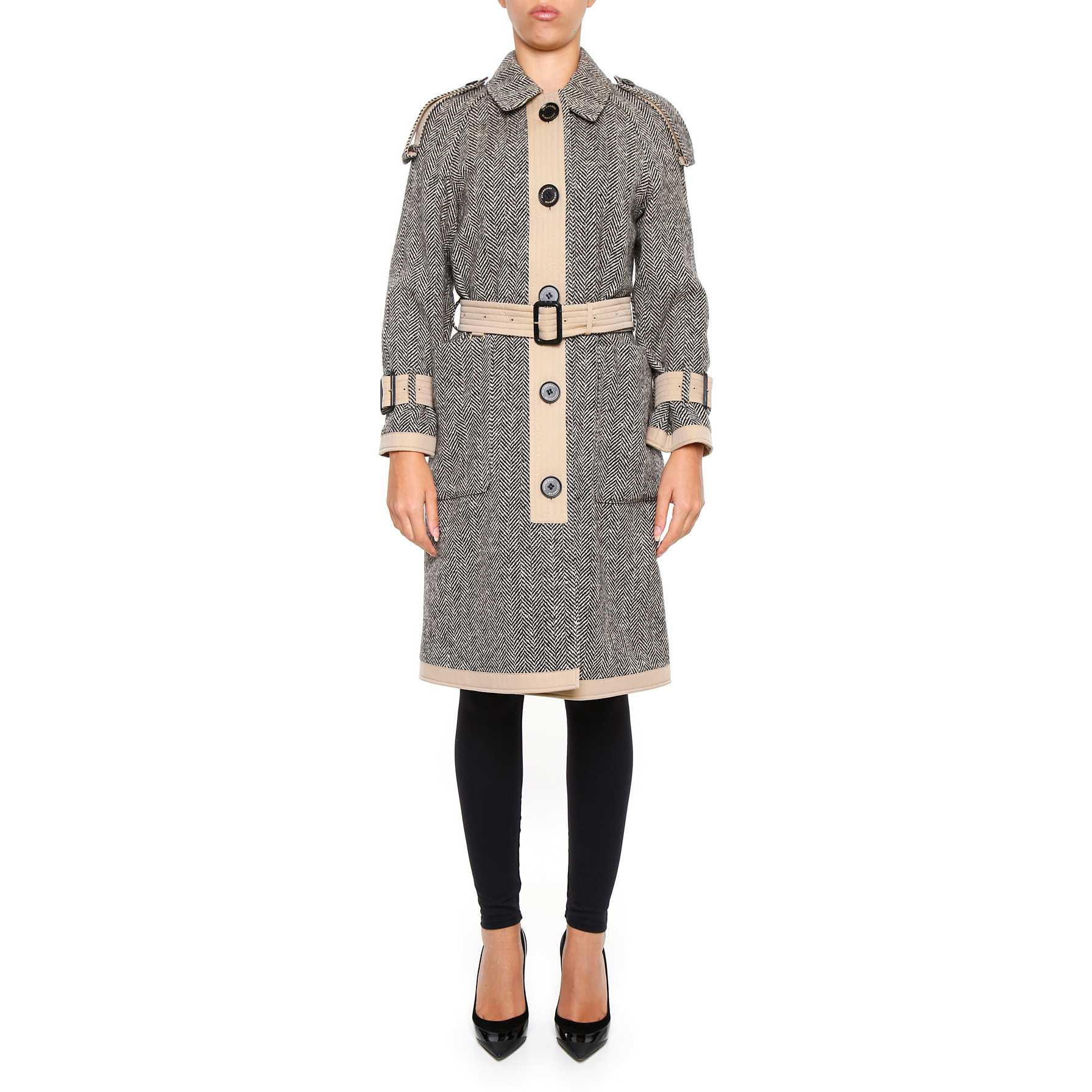 Burberry Oakville Trench Coat NATURAL WHITE pentru femei