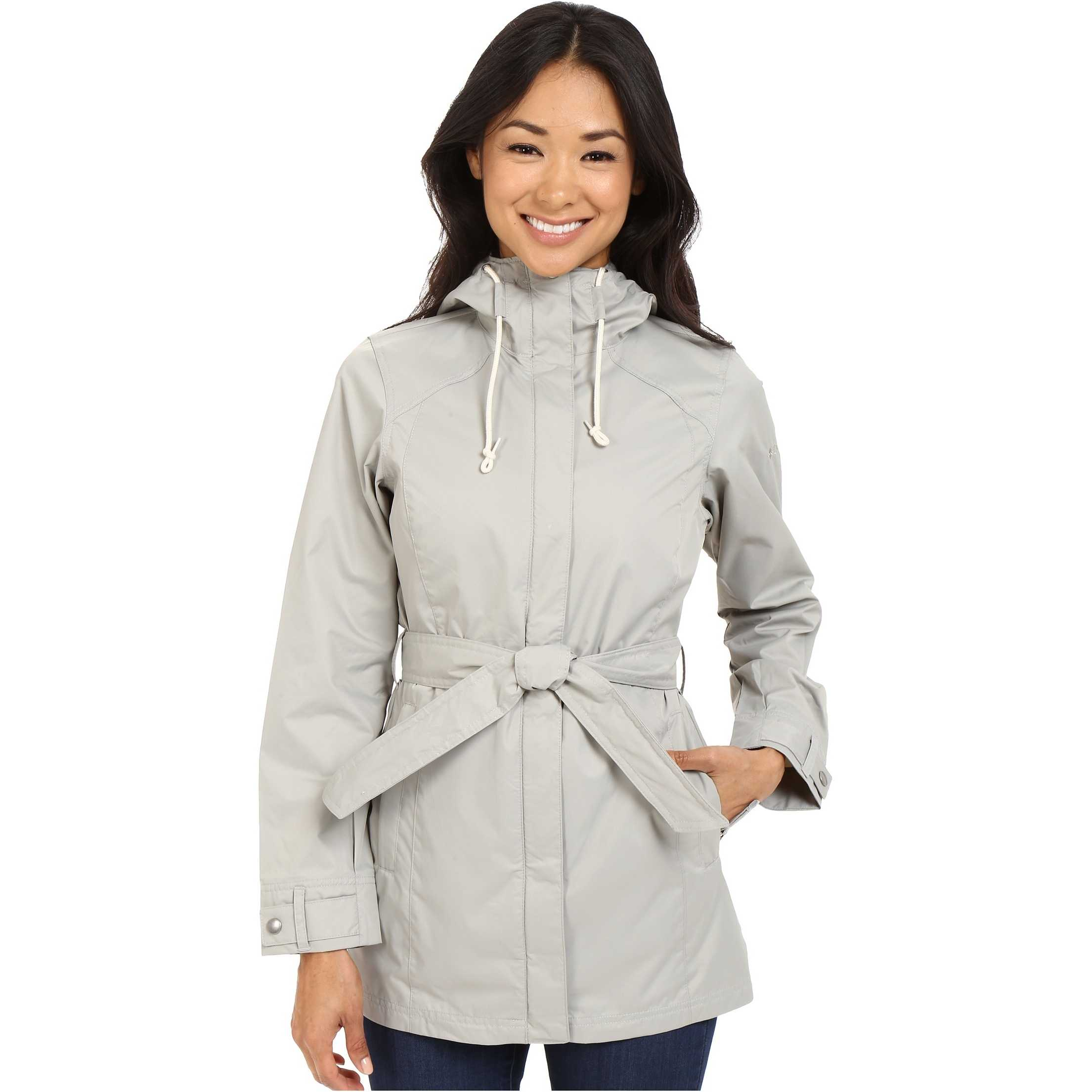 Columbia Pardon My Trench Rain Jacket Flint Grey pentru dama