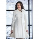 Trench ivoire din soft-shell VERONICA