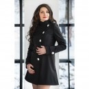 Trench negru din soft-shell BRIANNA