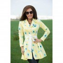 Trench Artista Spoiled Design Yellow trench dama