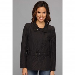 Calvin Klein Jeans Detachable Biker Trench Black