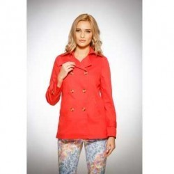 Trench dama rosu coral