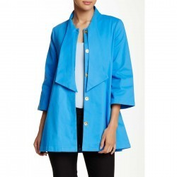 Julie Brown Kayla Jacket Bright Blue trench trench femei