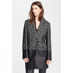 Belstaff 'Benmore' Jacquard Tweed Leather Jacket BLACK REGENCY TRENCH trench dama