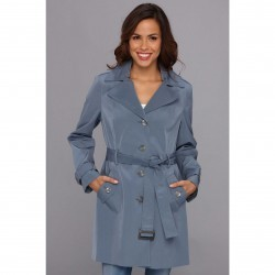 Calvin Klein Hooded Trench Coat CW442763 Shale trench dama