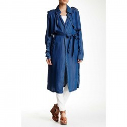 Fire Lightweight Denim Trench MED WASH trench dama