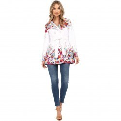 Jessica Simpson Belted Floral Trench Multi trench dama