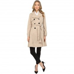 Kate Spade New York Classic Twill Trench Coat French Beige trench dama