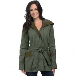 Lucky Brand Military Trench Green Multi trench femei