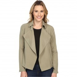 Bobeau Cropped Trench Olive trench dama
