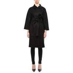 Balenciaga Cotton Gabardine Trench Coat 426660 TRE02 NOIR trench dama
