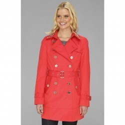 Sam Edelman DB Trench w/ St #xdded; Collar L3S07004 Hibiscus trench dama