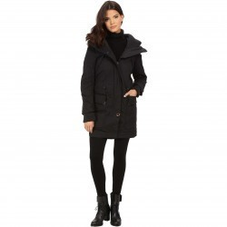 Rainforest Trench with Knit Detailing Black trench dama