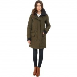 Rainforest Trench with Knit Detailing Olive trench dama