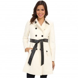 DKNY Color Block Trench 14200M-Y4 Ivory trench dama