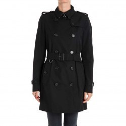 Burberry Cotton Trench Black pentru dama